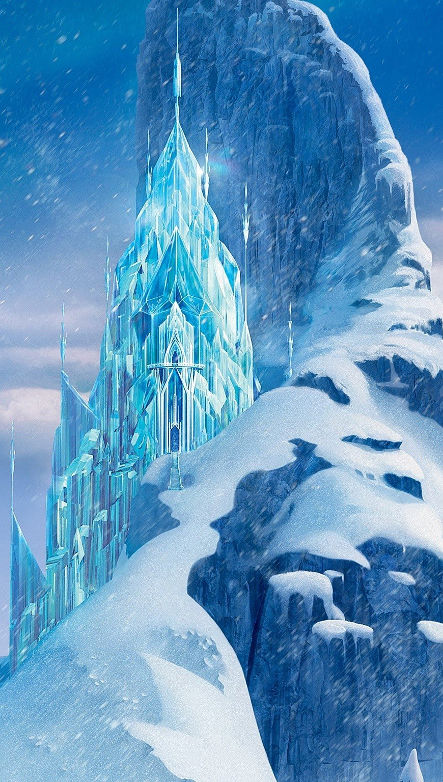 Wallpaper Ice Castle in Frozen Vertical
