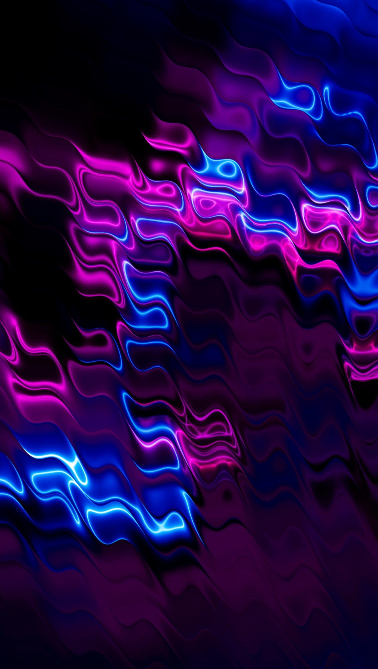 Fondos de pantalla Celdas moradas y azules Vertical