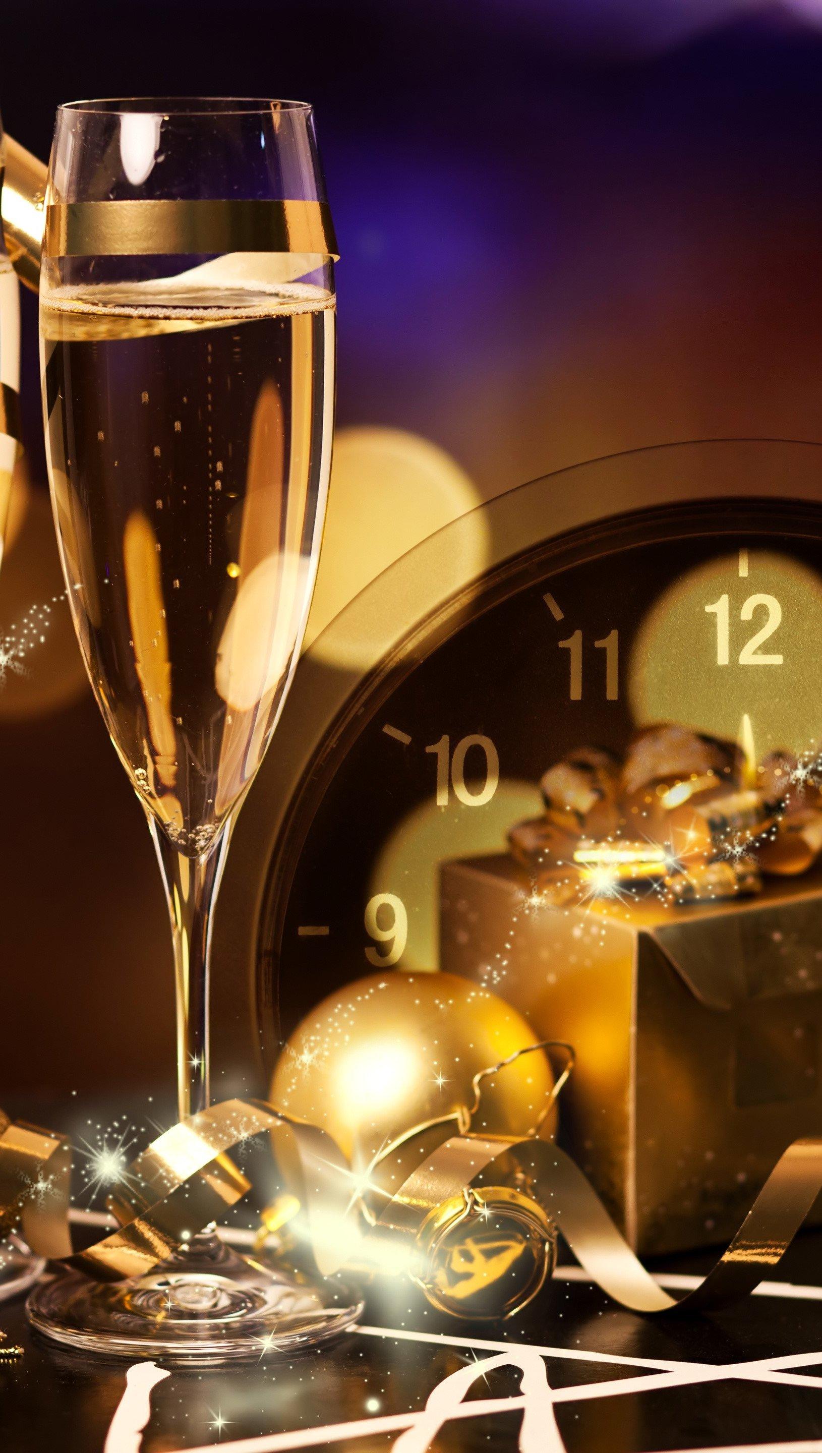 Wallpaper New Year's celebration Vertical