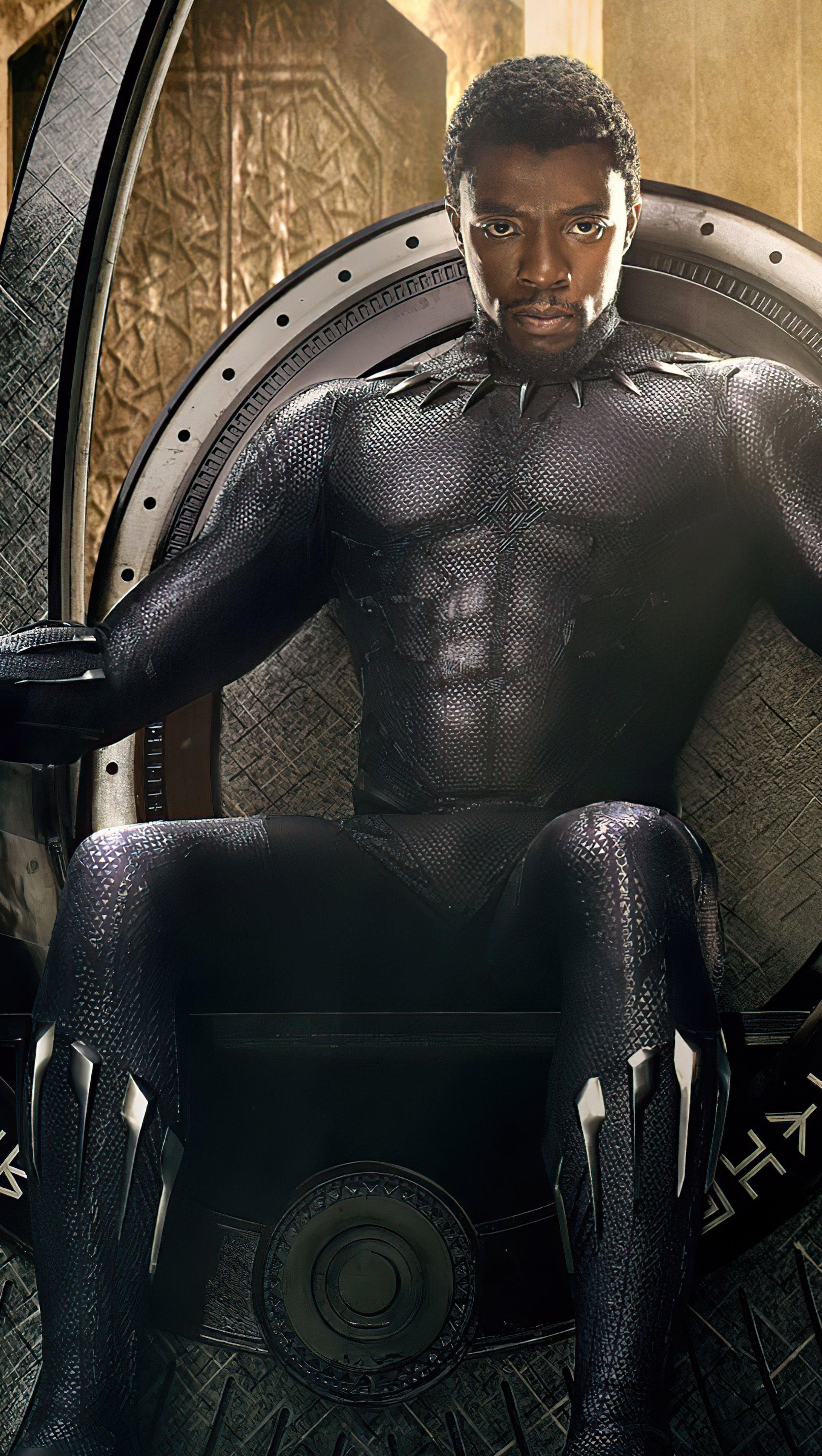 Wallpaper Chadwick Aaron Boseman Black Panther Vertical