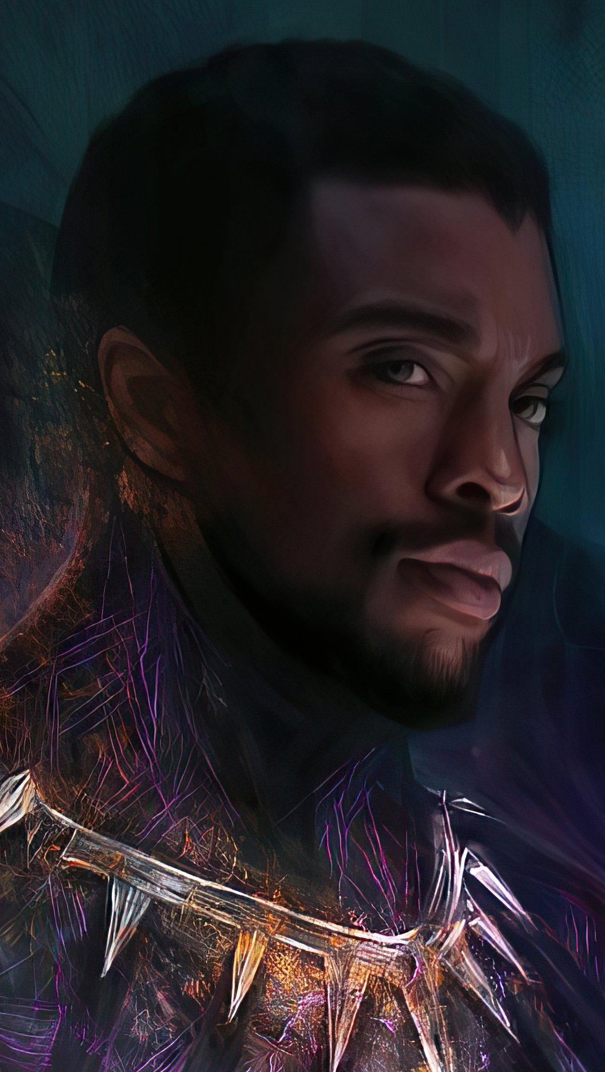 Fondos de pantalla Chadwick Boseman como Pantera Negra 2020 Fanart Vertical