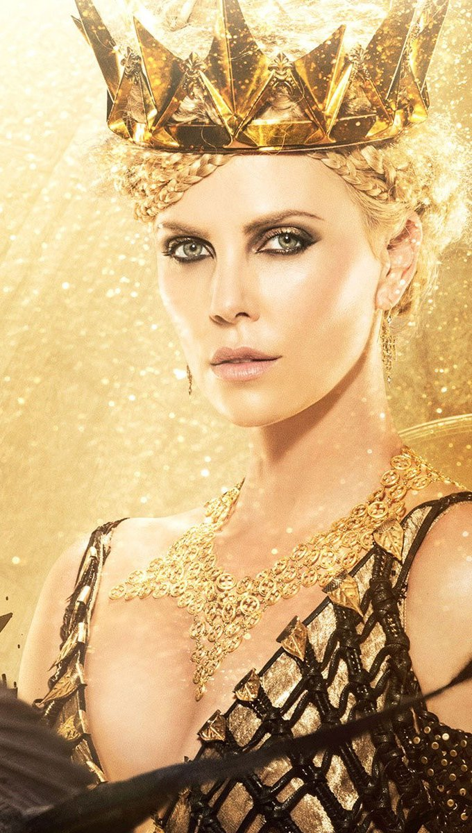 Wallpaper Charlize Theron in The Hunter and the Ice Queen Vertical