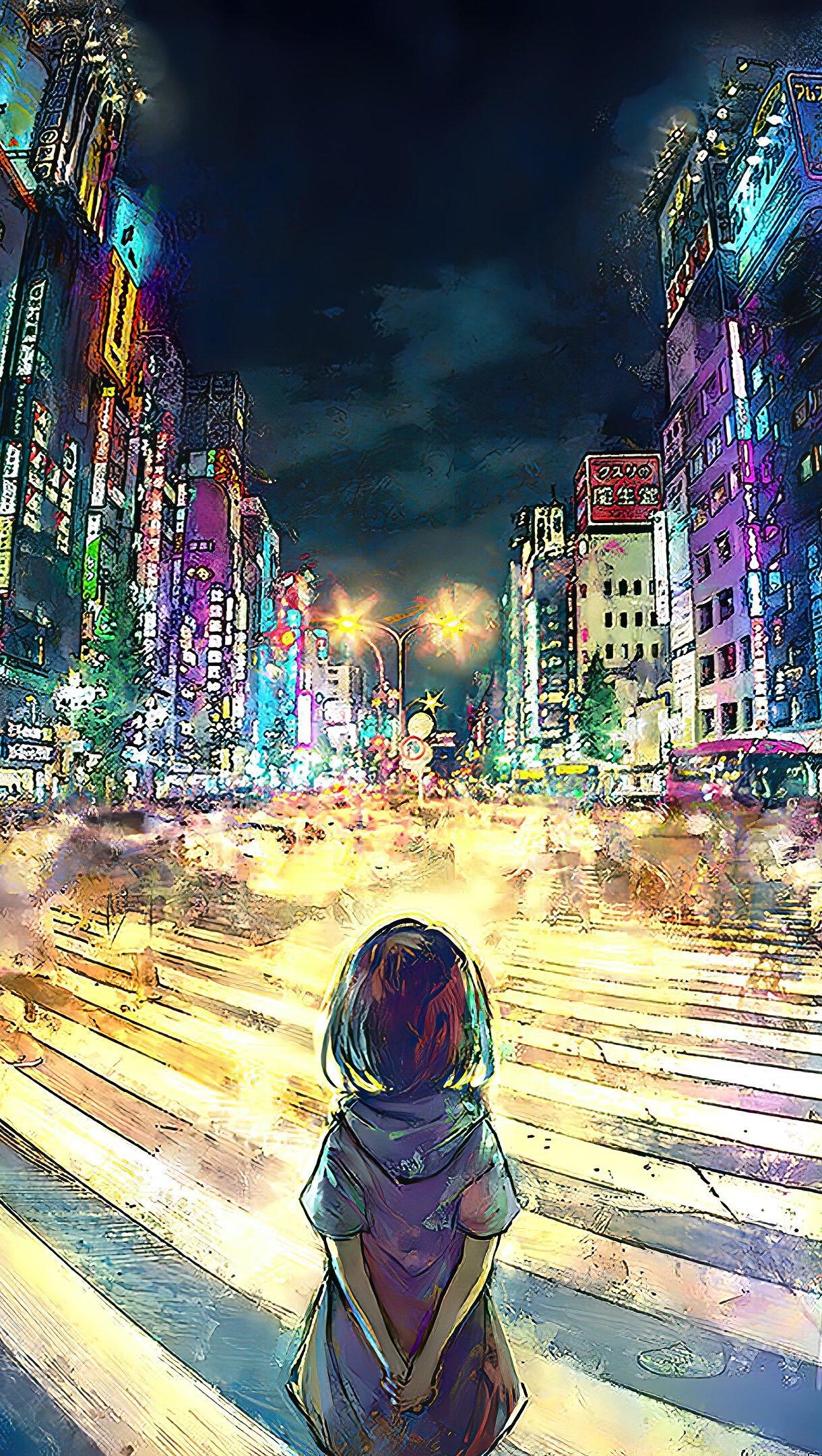 Fondos de pantalla Chica  Anime en Tokio Artwork Vertical