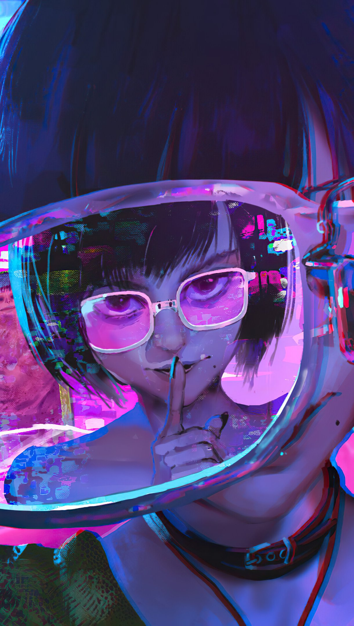 Cyberpunk Girl Thrugh Glasses Wallpaper 4k Ultra Hd Id 5406
