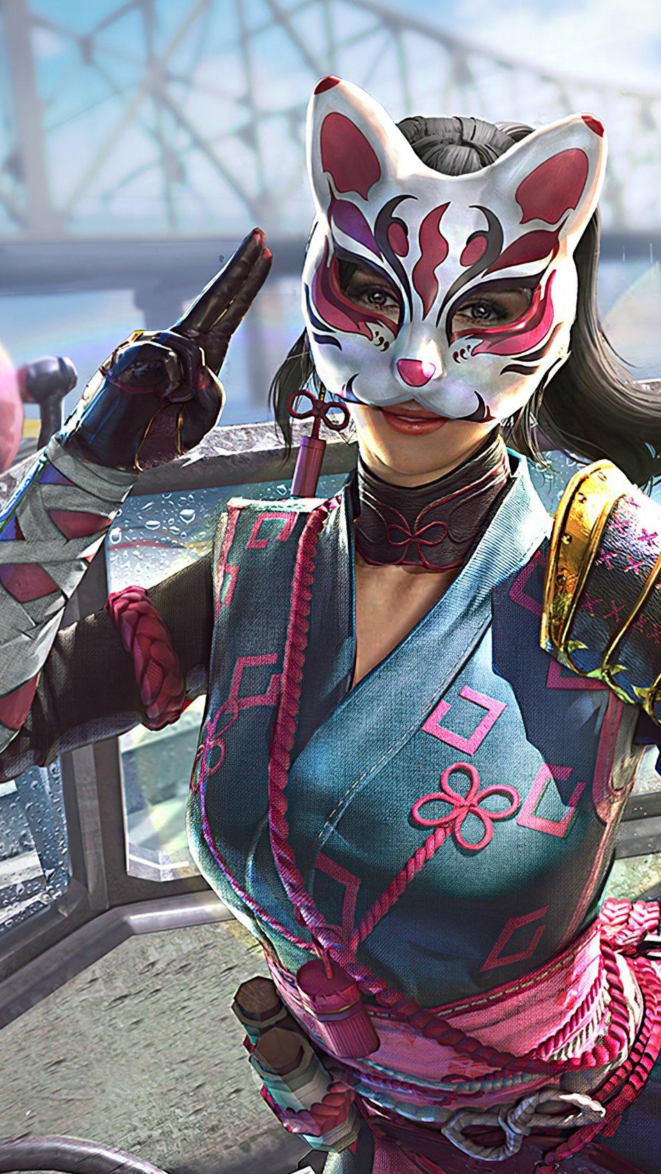 Fondos de pantalla Chica Ninja PUBG Vertical