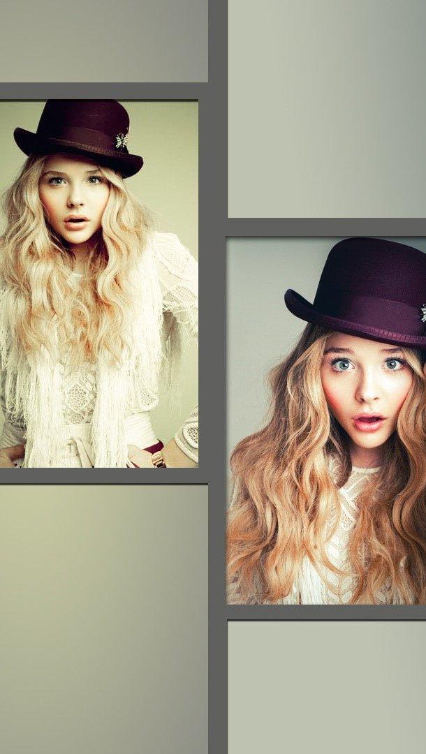 Fondos de pantalla Chloe Moretz Collage Vertical