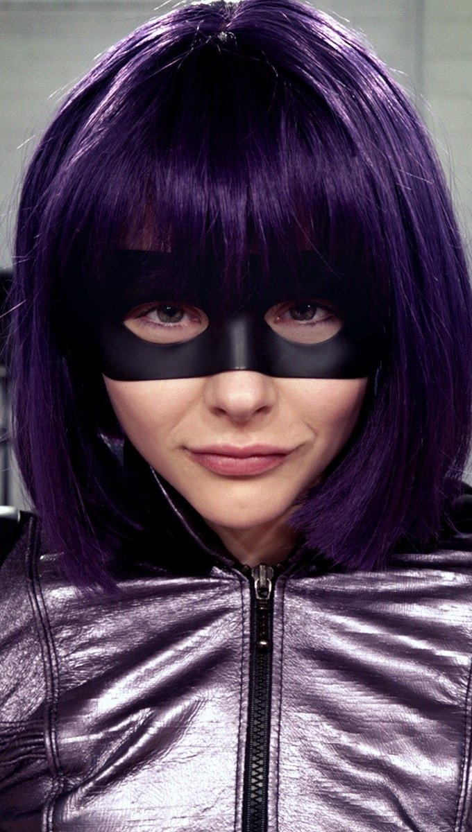 Fondos de pantalla Chloe Moretz como Hit Girl en Kick ass 2 Vertical