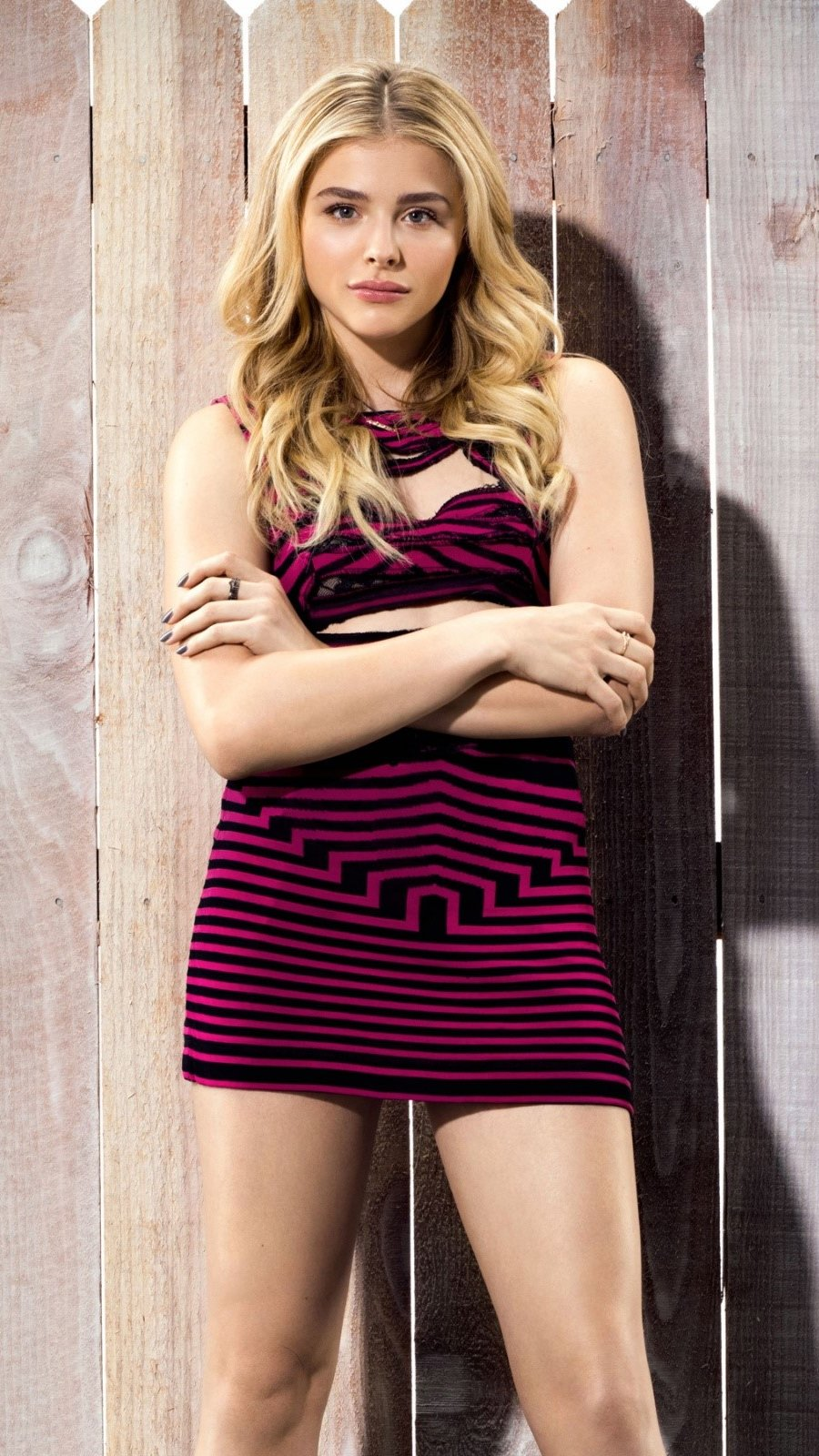 Wallpaper Chloe Moretz in Buenos Vecinos 2 Vertical