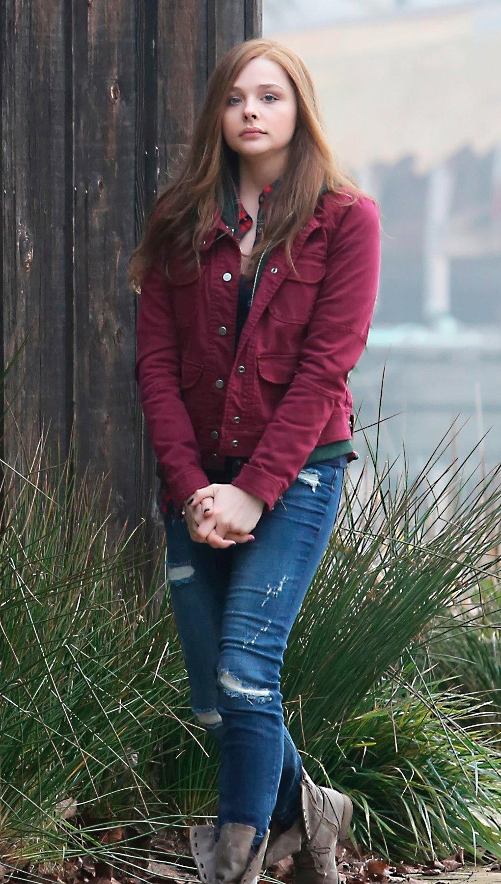 Fondos de pantalla Chloe Moretz en Si decido quedarme Vertical