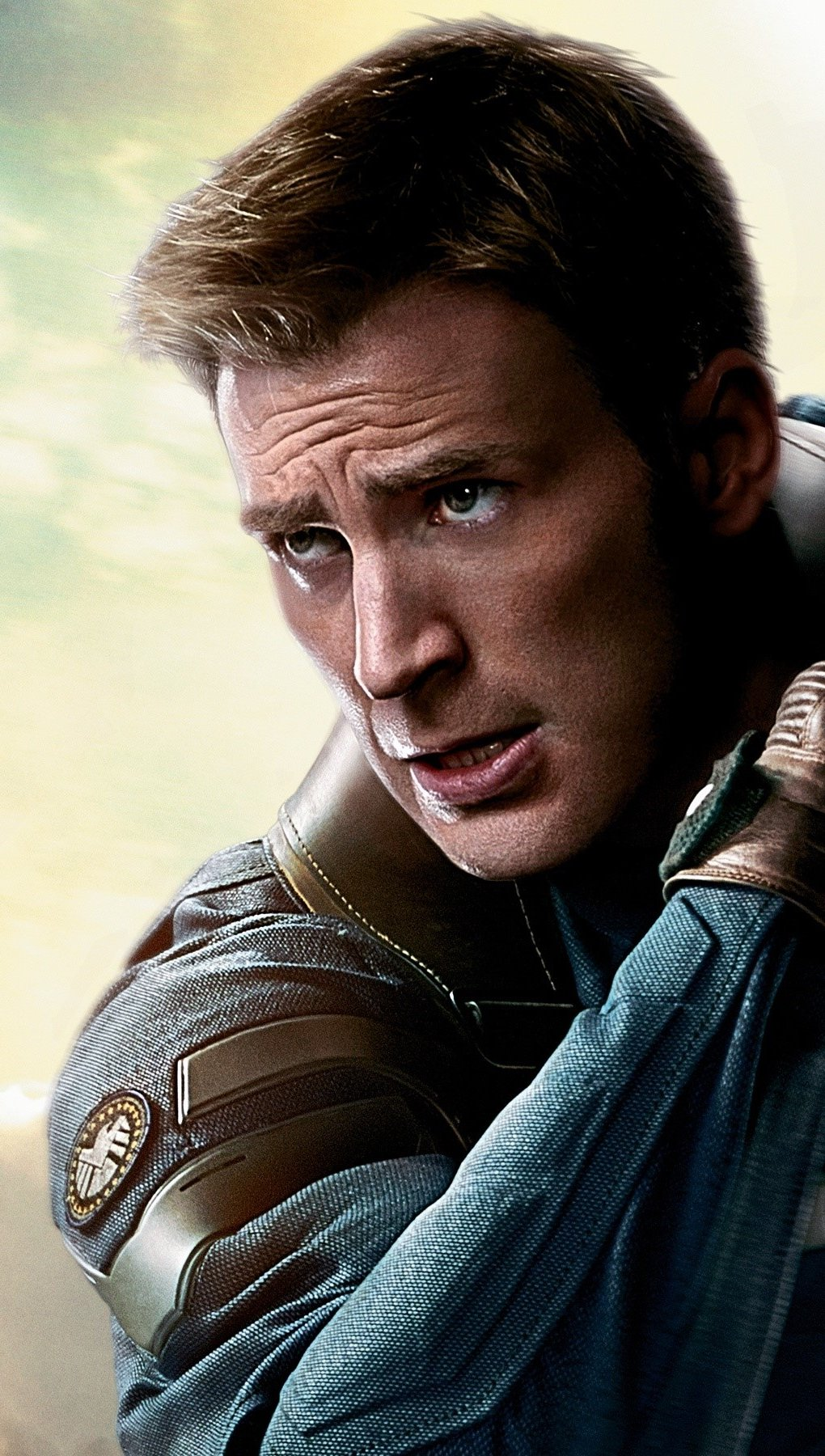 Wallpaper Chris Evans in Capitan America The Winter Soldier Vertical