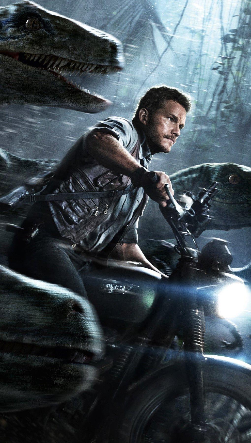 Wallpaper Chris Pratt in Jurassic World Vertical