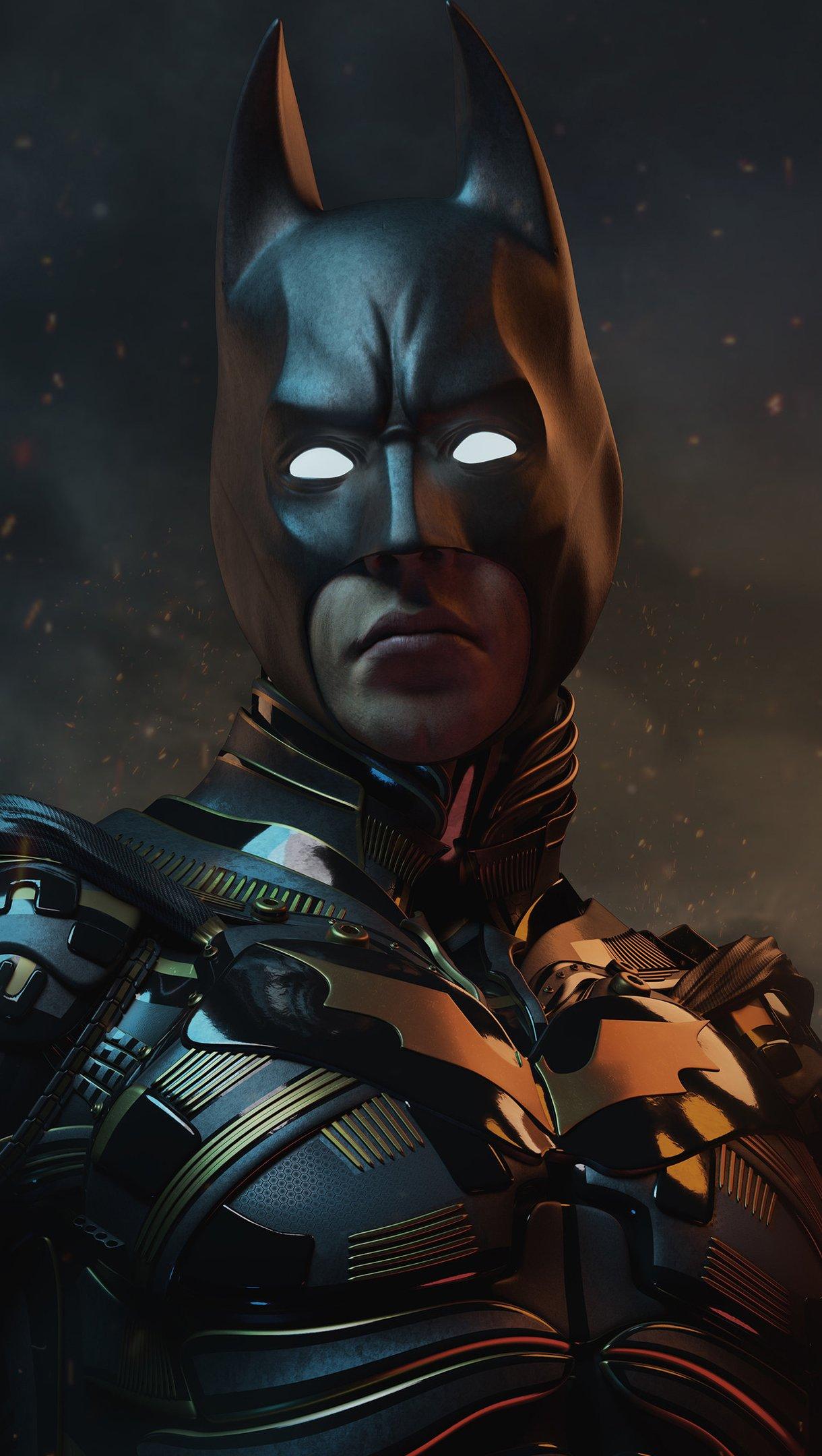 Fondos de pantalla Christian Bale as Batman Vertical