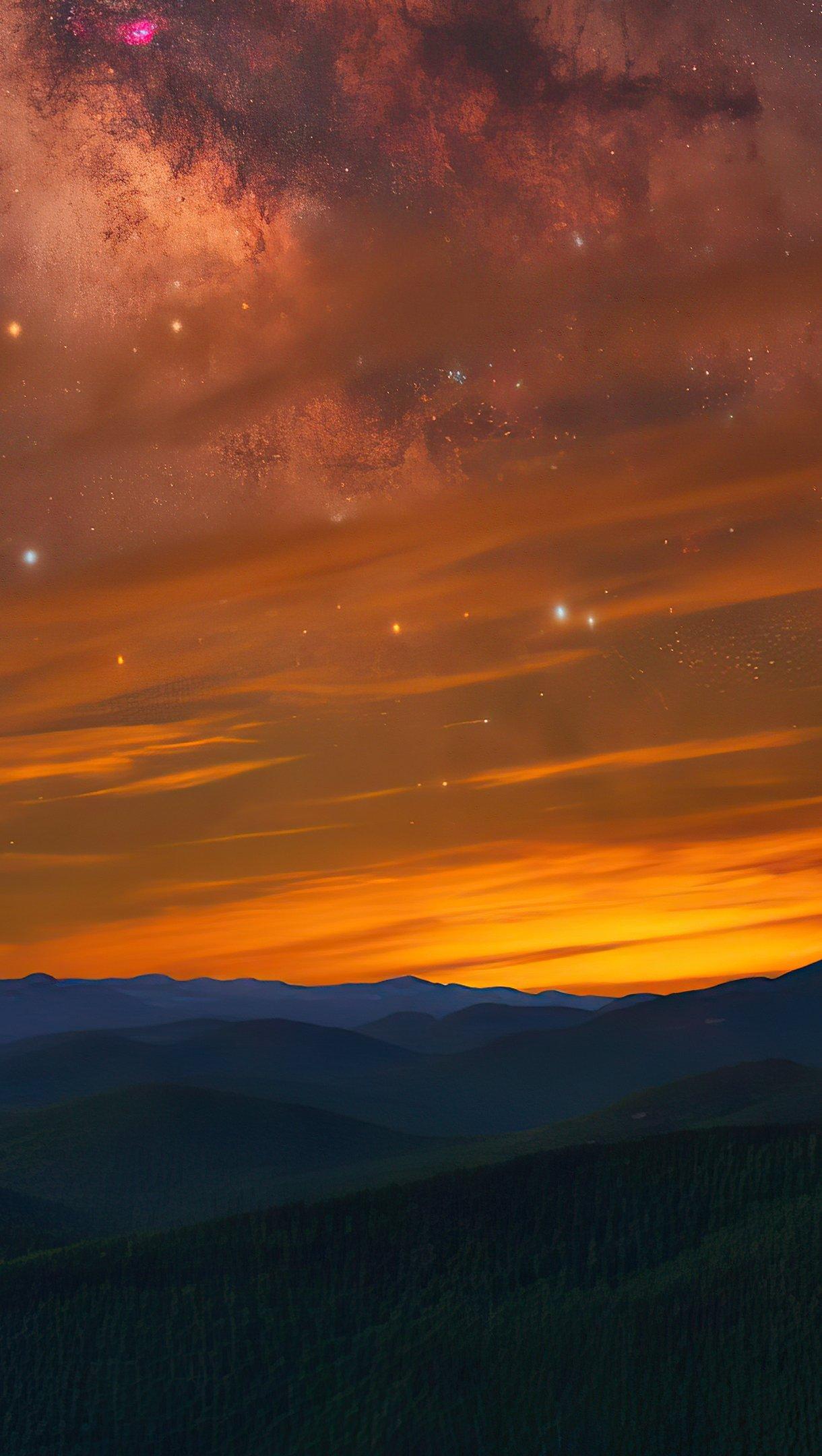 Fondos de pantalla Cielo lleno de estrellas Vertical