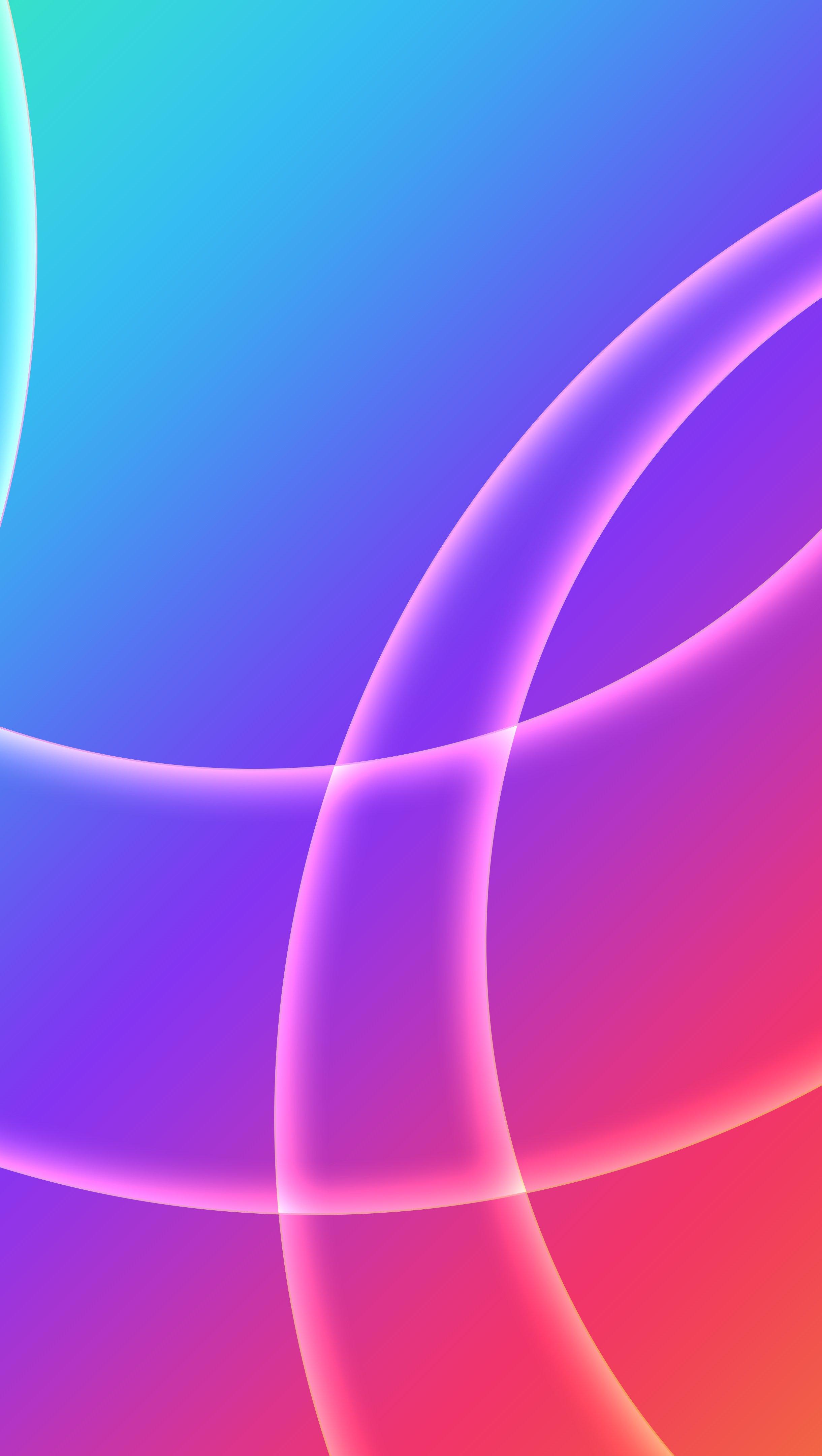 Wallpaper Circles between fading colors Vertical