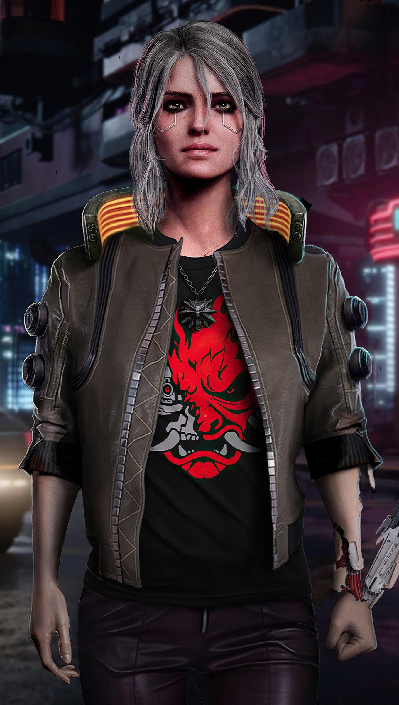Fondos de pantalla Ciri Cyberpunk 2077 Fanart Vertical