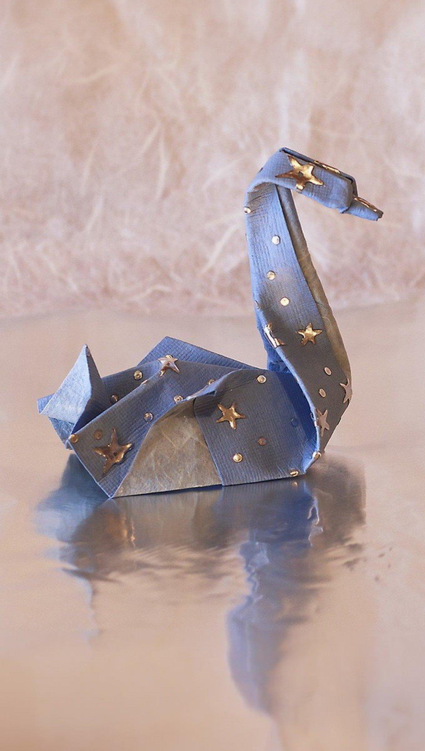 Fondos de pantalla Cisne de origami Vertical