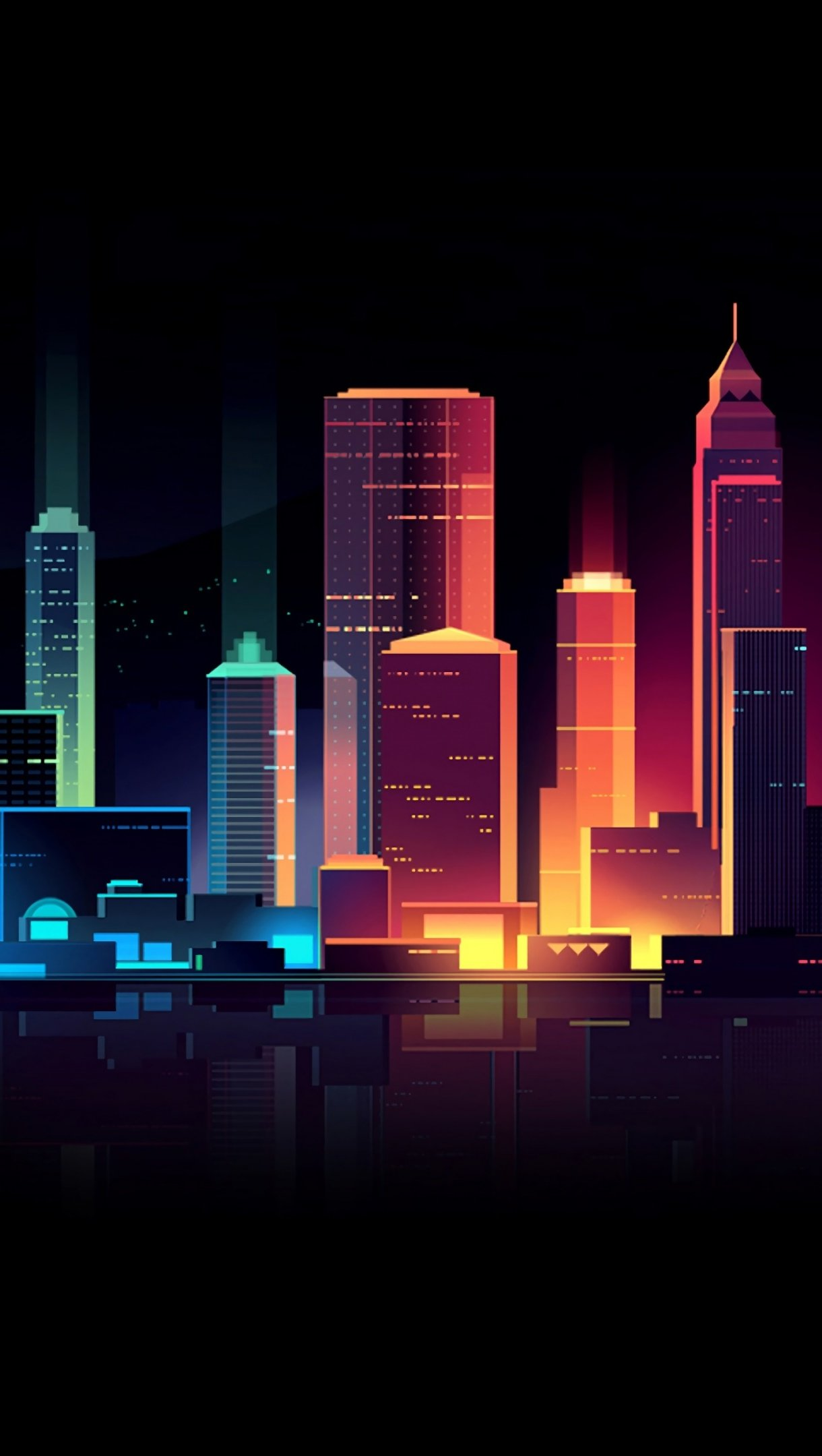Fondos de pantalla Ciudad colores Neon Vertical