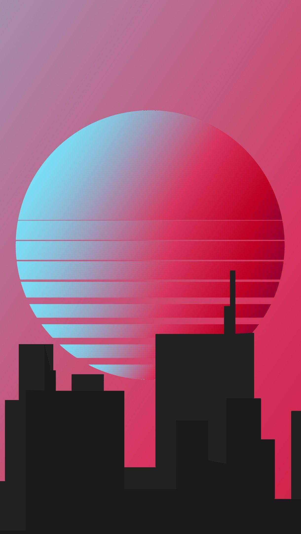 Fondos de pantalla Ciudad estilo retro minimalista Vertical