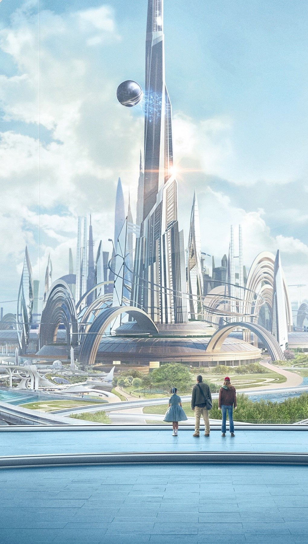 Wallpaper Tomorrowland City Vertical
