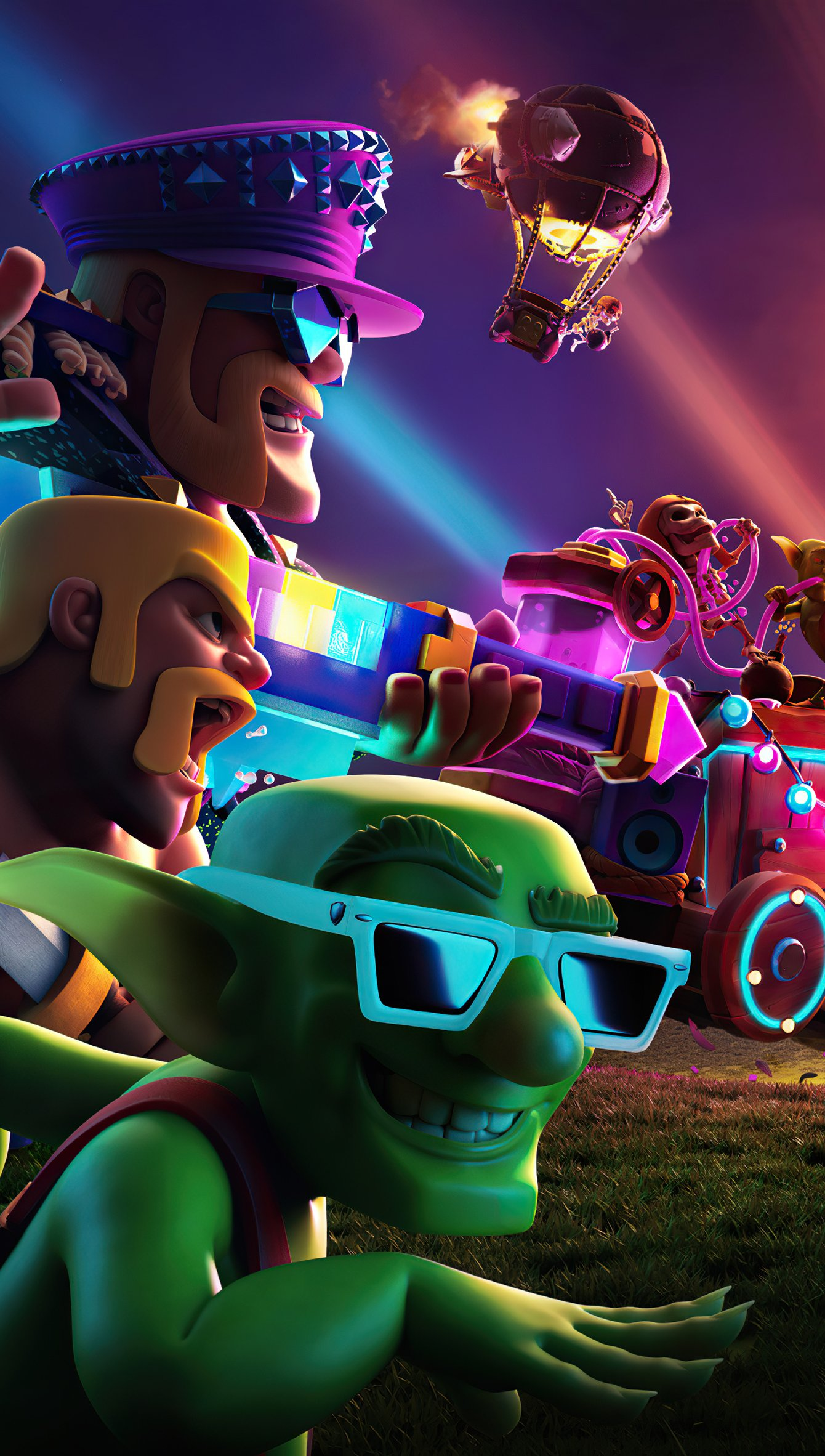 Wallpaper Clash of Clans 9th anniversary Vertical