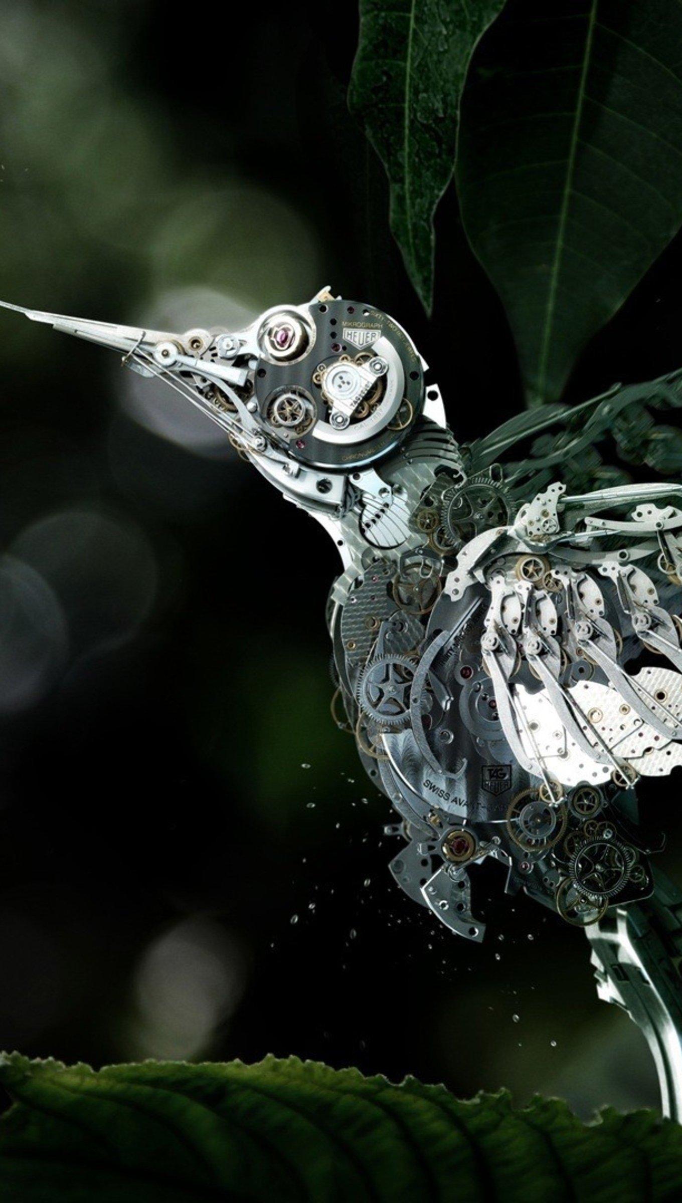 Wallpaper Cristal Hummingbird Vertical