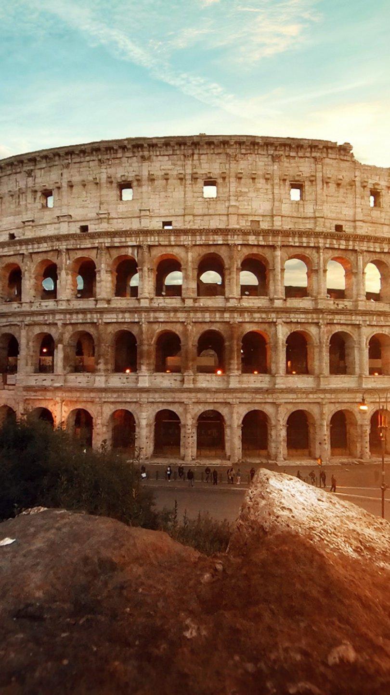 Fondos de pantalla Coliseo Romano al atardecer Vertical