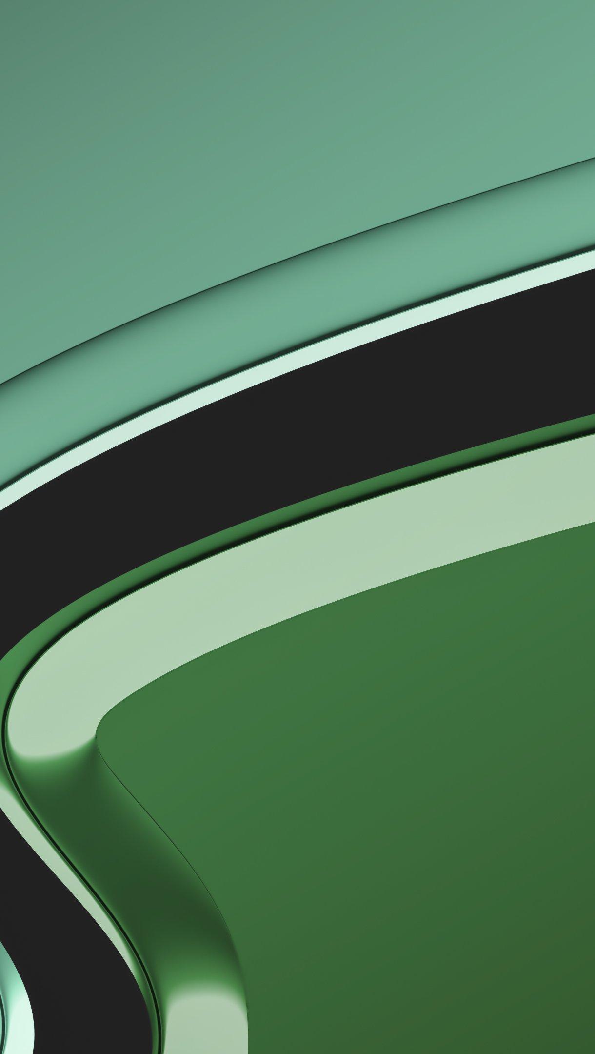 Wallpaper Green color flow Vertical