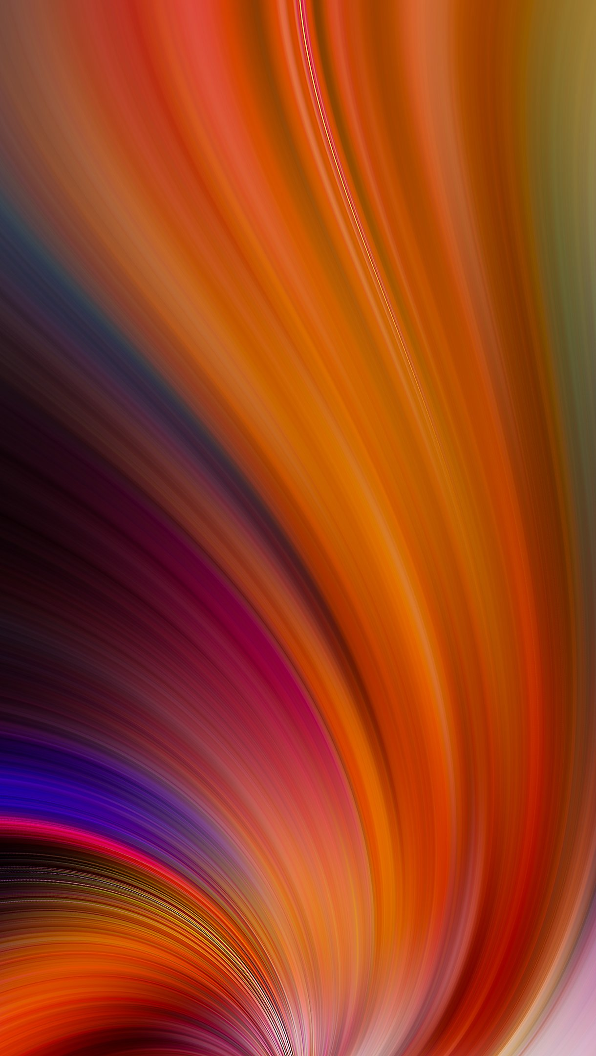 Fondos de pantalla Colores en remolino abstracto Vertical