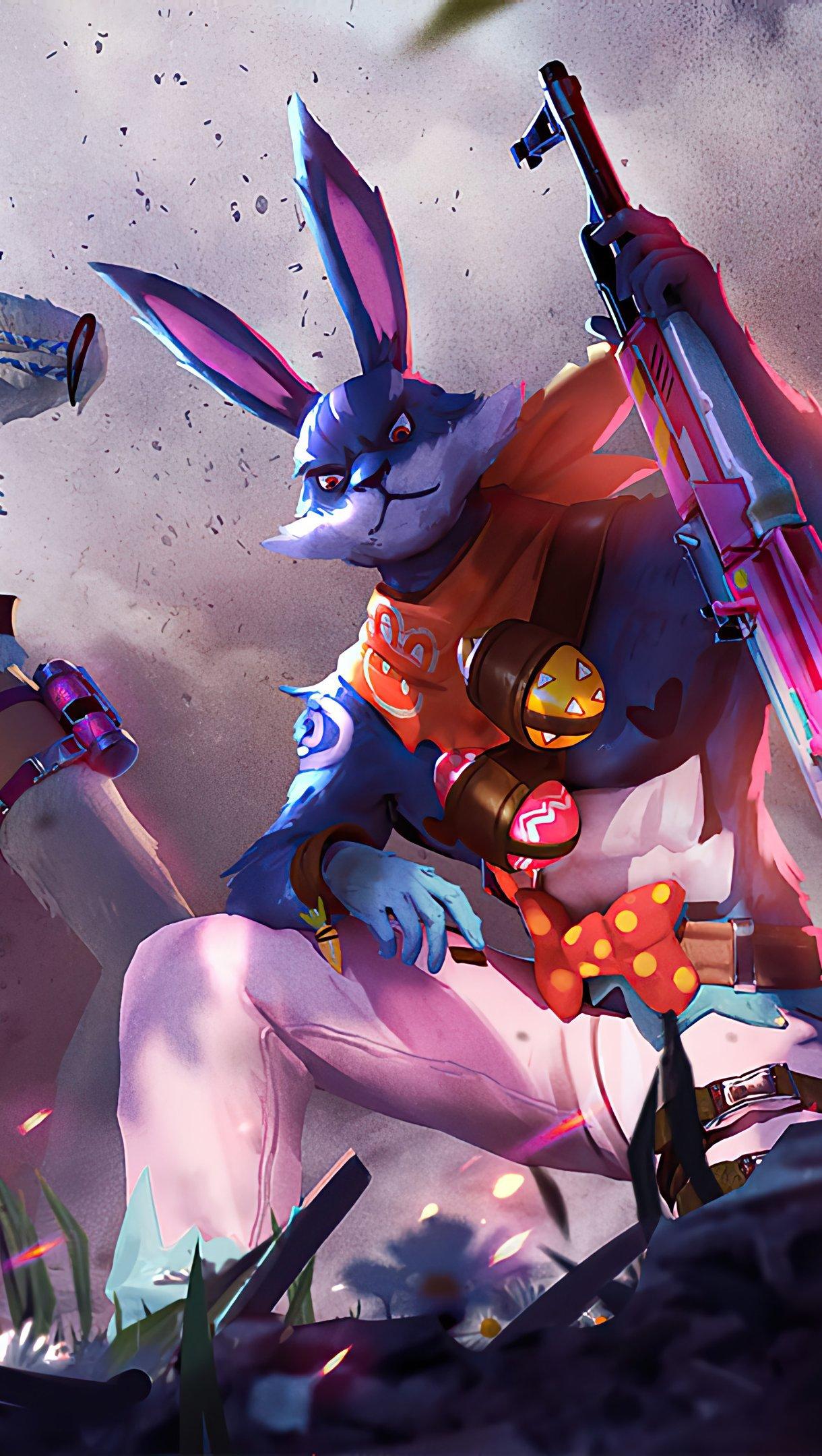 Wallpaper Garena Free Fire Bunny Warrior Vertical