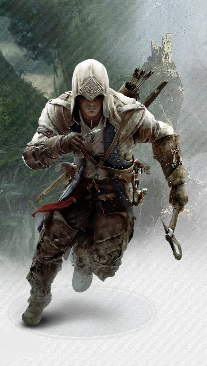 Fondos de pantalla Connor in Assassins Creed 3 Vertical