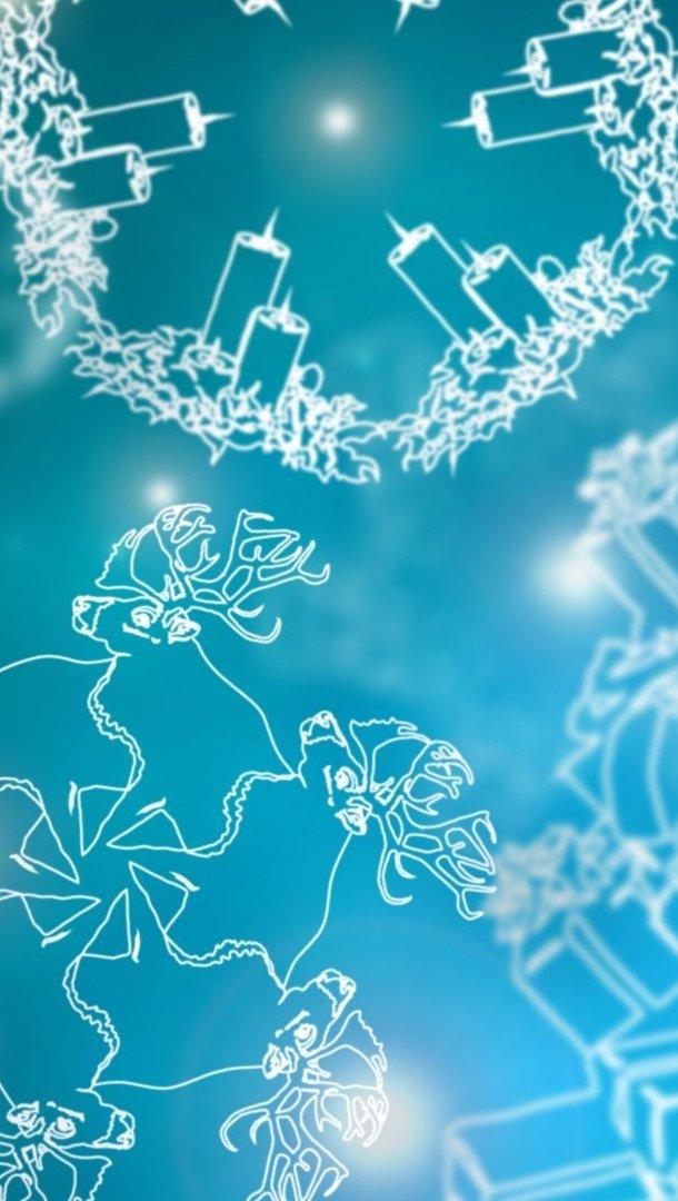 Fondos de pantalla Copos de nieve de figuras navideñas Vertical