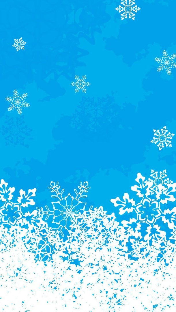 Wallpaper Snowflakes on blue background Vertical