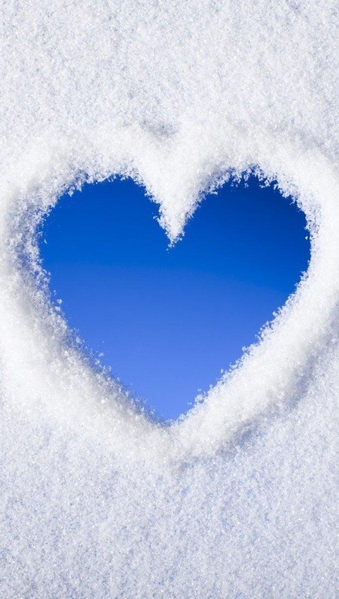 Fondos de pantalla Corazón de nieve Vertical