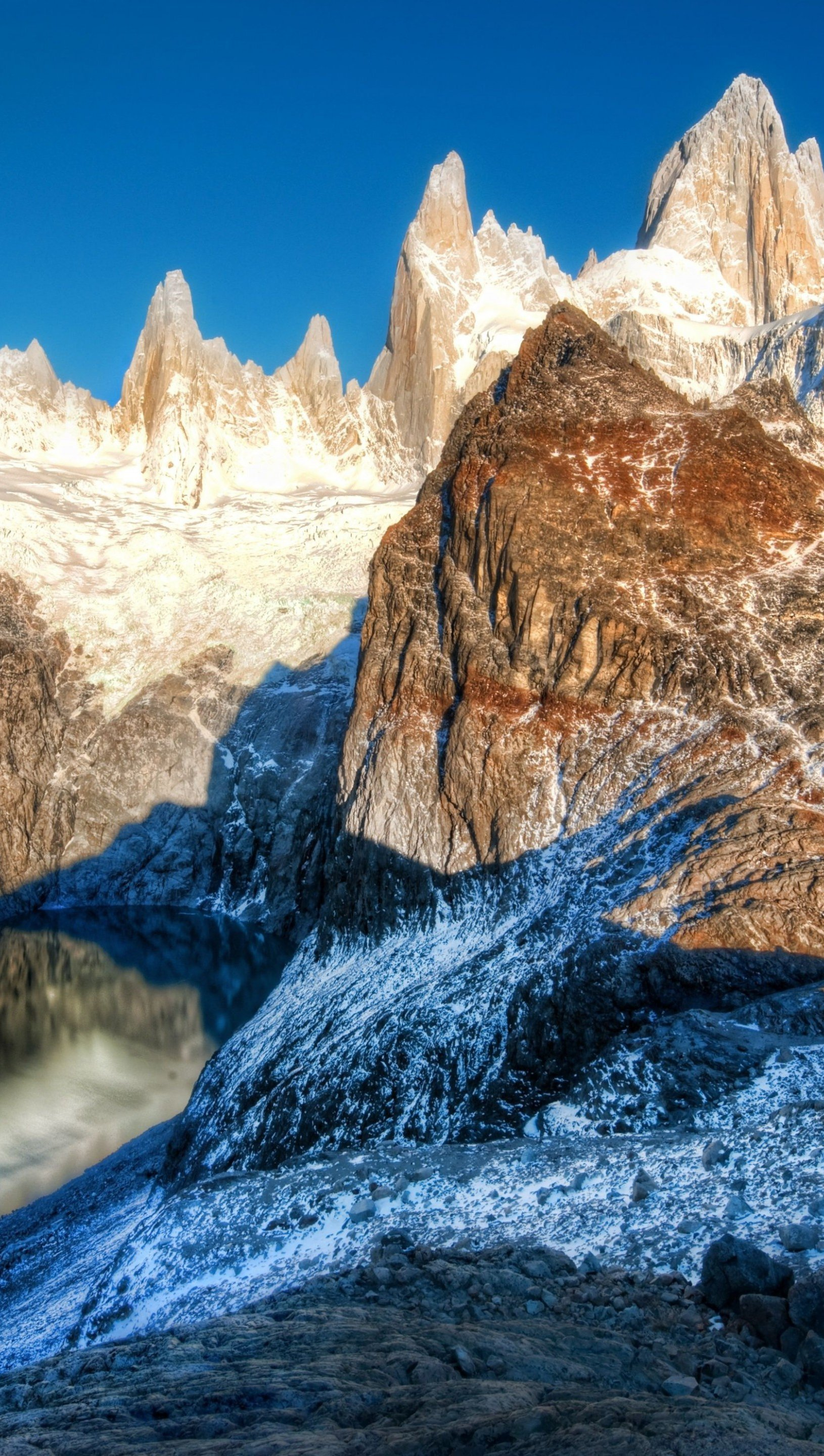 Wallpaper Andes Mountains in Argentina Vertical