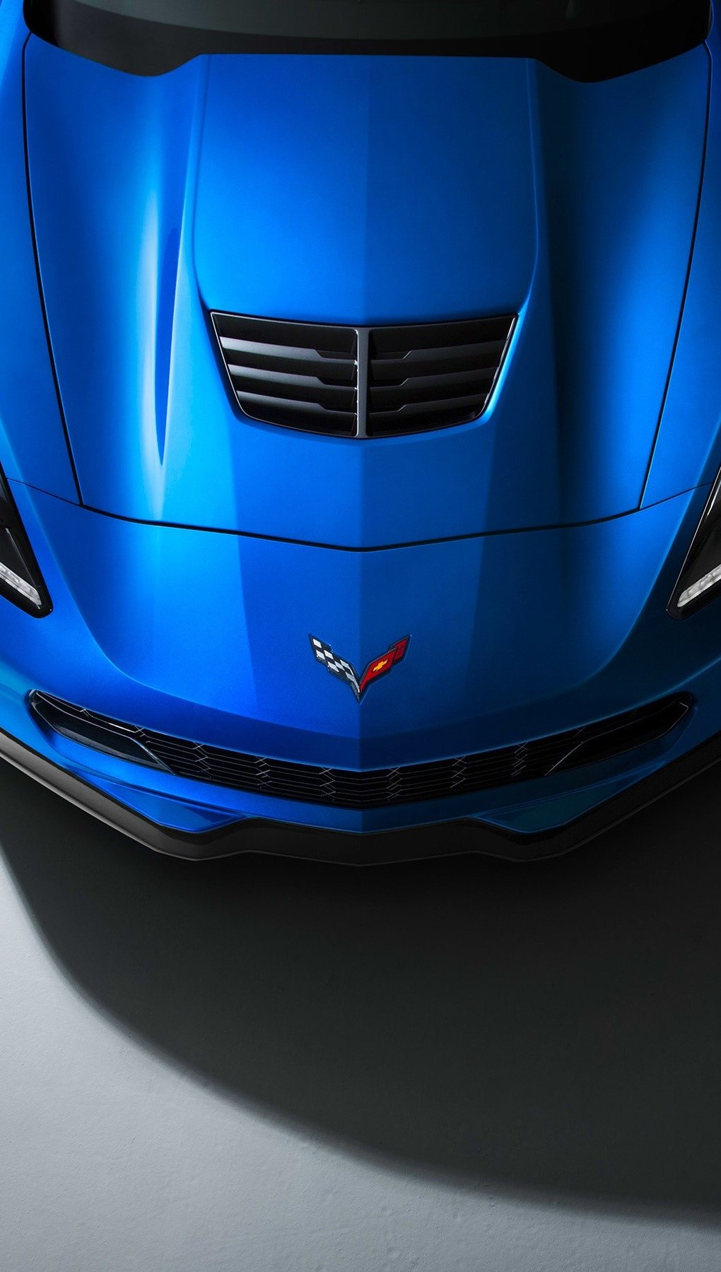 Wallpaper Corvette Z06 Supercar Vertical