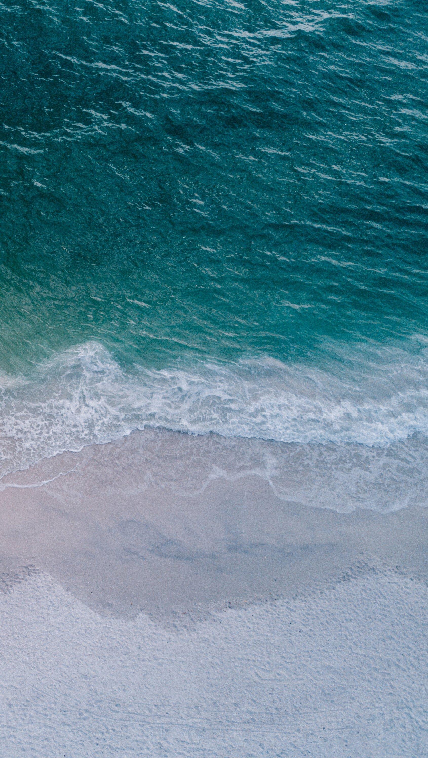 Wallpaper Island Coast Aerial View Vertical