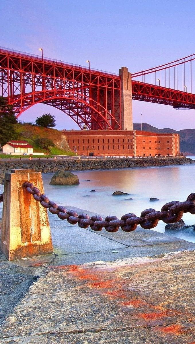 Fondos de pantalla Costa en el punte Golden Gate Vertical