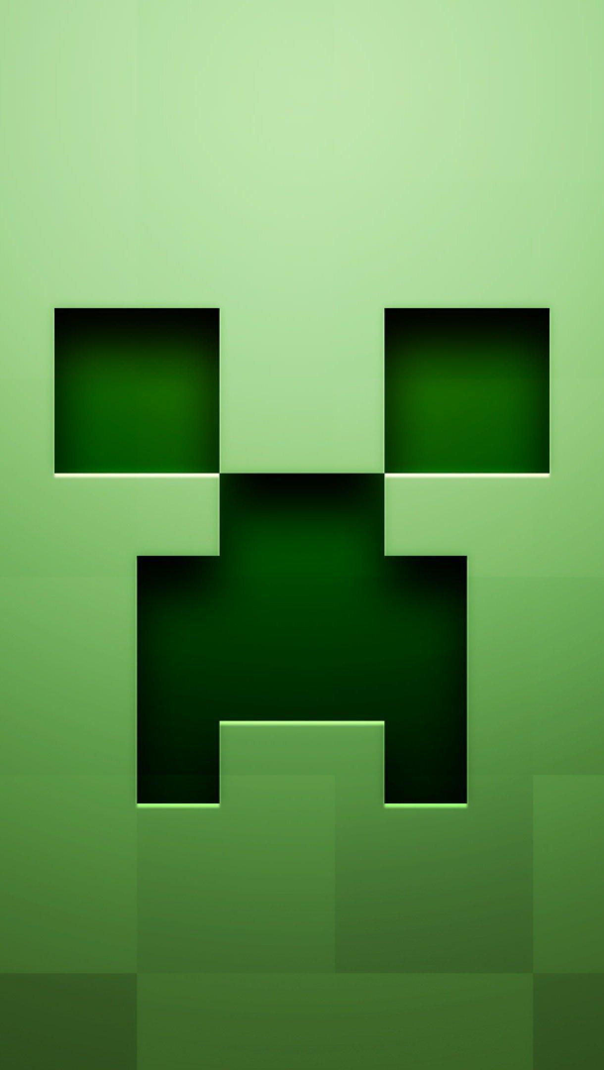 Wallpaper Creeper Minecraft Vertical