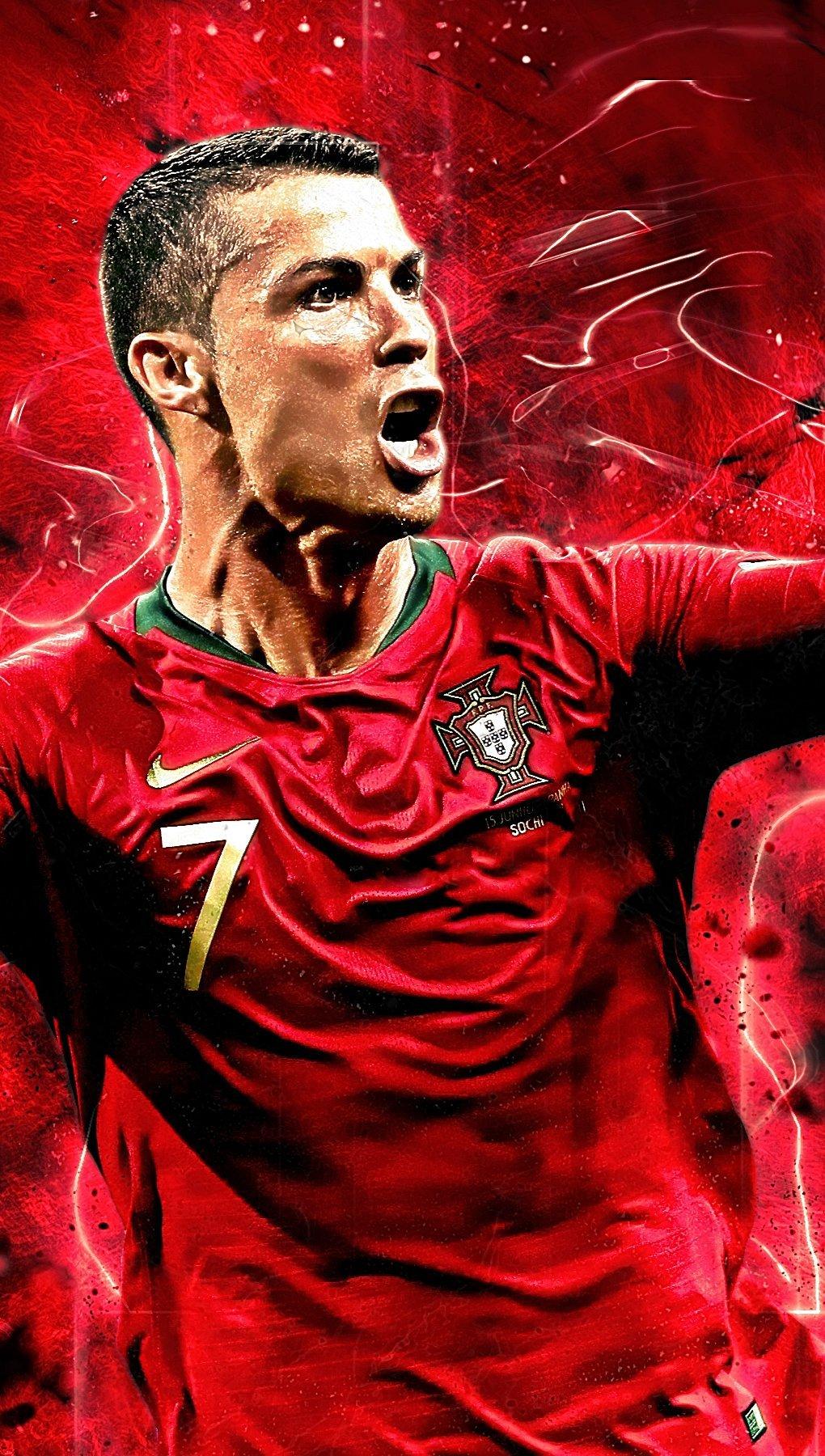 Wallpaper Cristiano Ronaldo Portugal national team Vertical