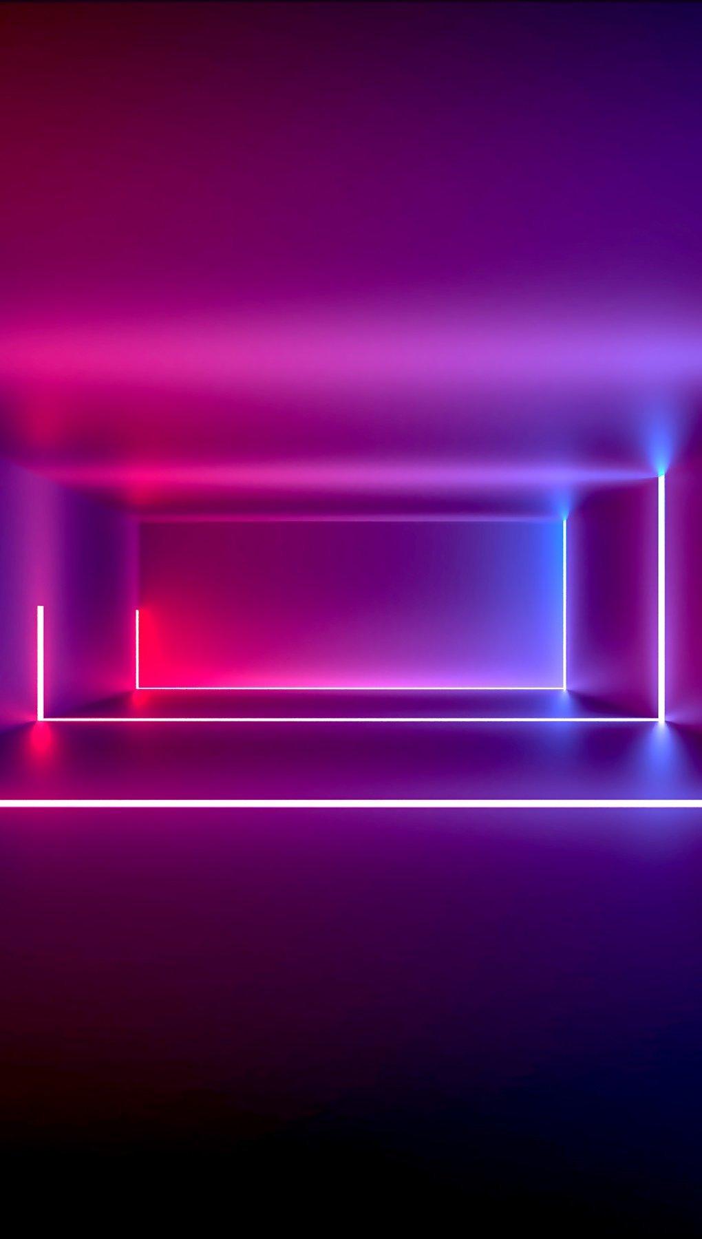 Fondos de pantalla Cuarto con luces neón Vertical