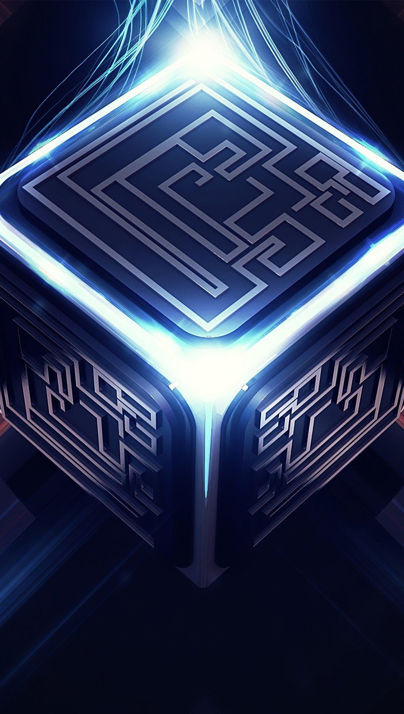 Fondos de pantalla Cubo con energia de luces Vertical