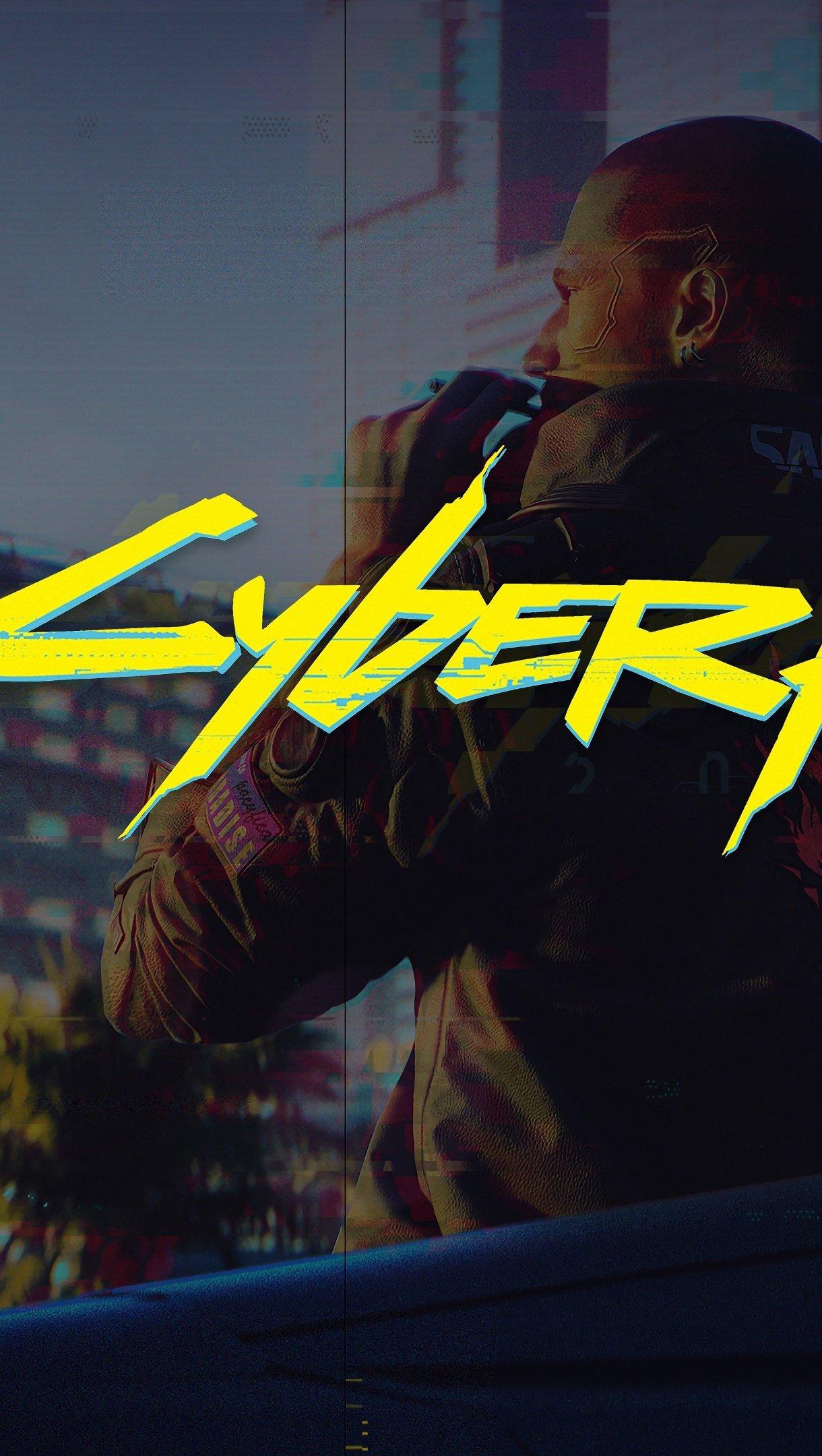 Wallpaper Cyberpunk 2077 Vertical