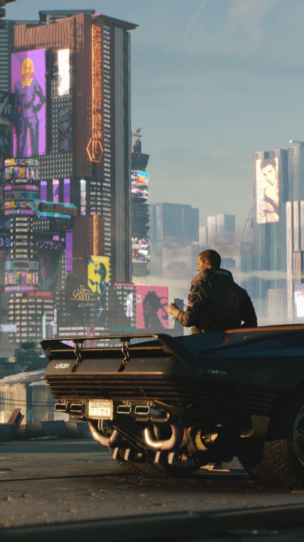 Wallpaper Cyberpunk 2077 Car Vertical