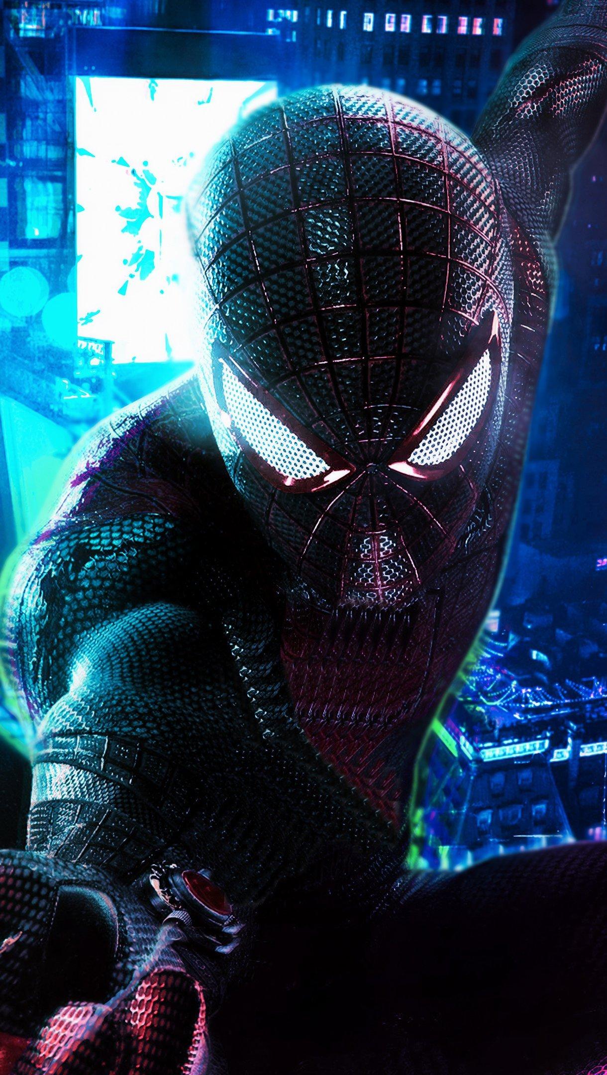 Fondos de pantalla Cyberpunk Hombre Araña Fanart Vertical