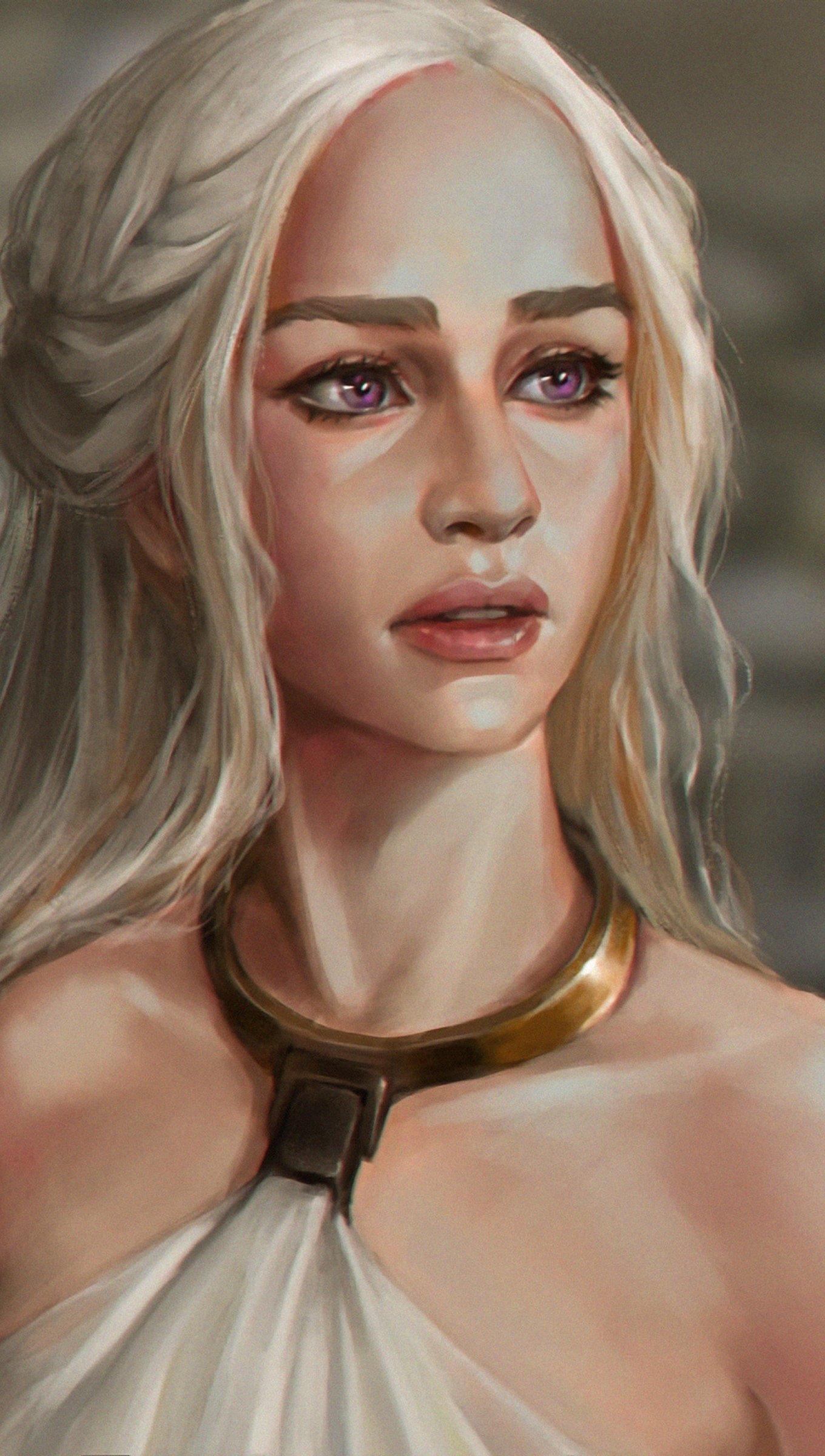 Fondos de pantalla Daenerys Tagaryen Fanart Vertical