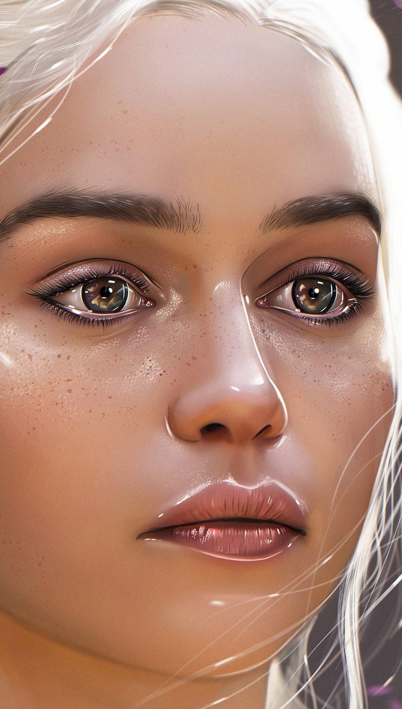 Fondos de pantalla Daenerys Targaryen Fan-art Vertical