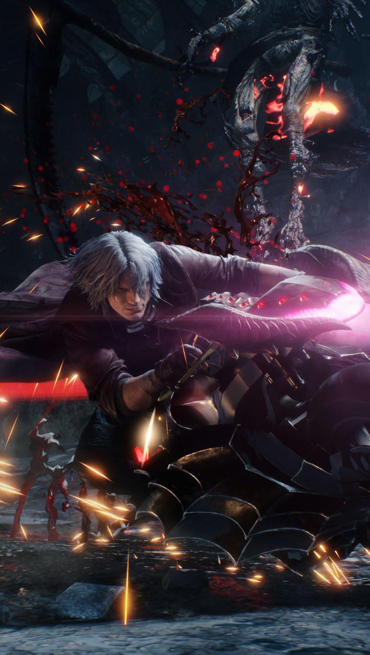 Fondos de pantalla Dante en motocicleta de Devil May Cry 5 Vertical