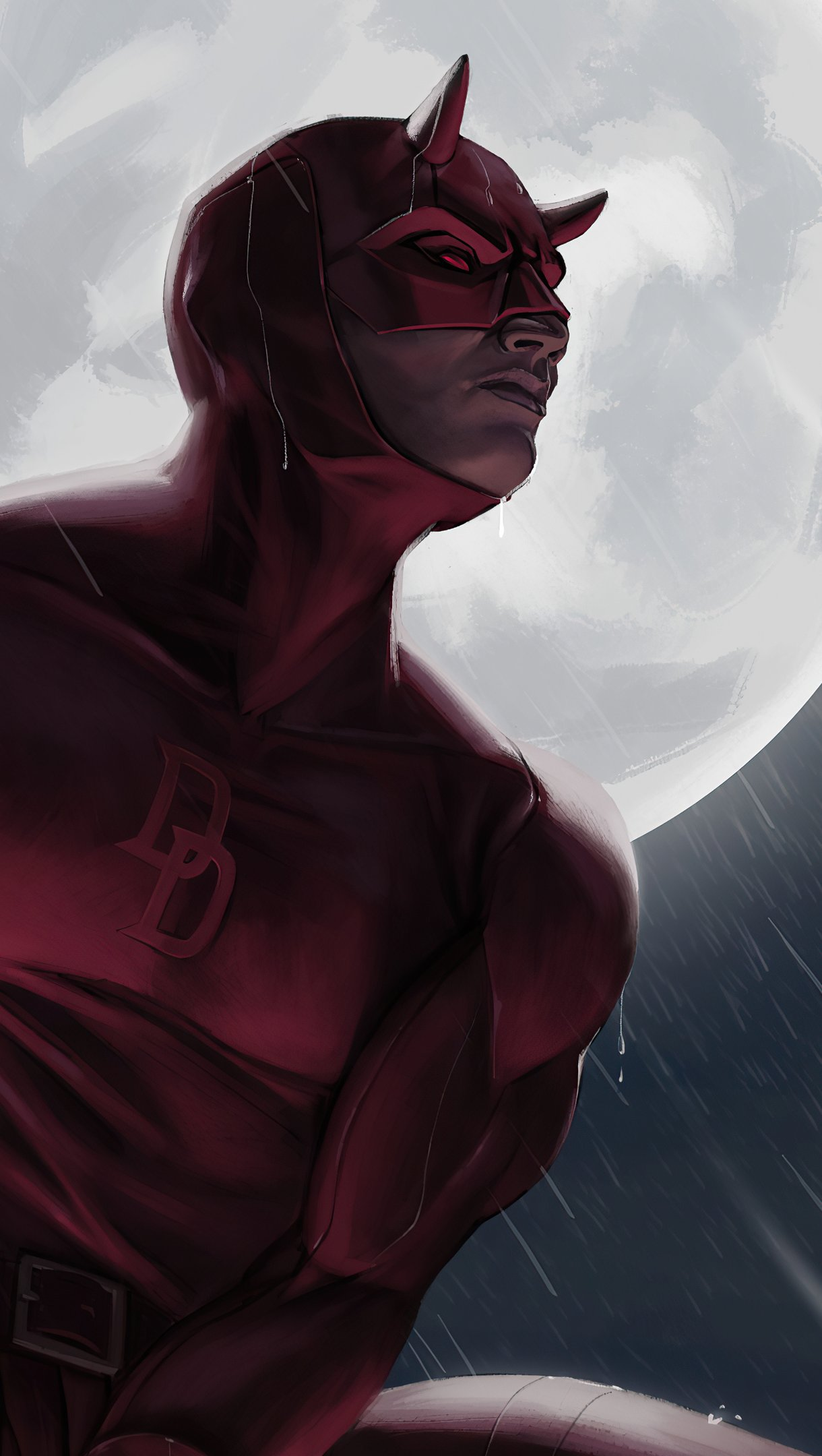 Fondos de pantalla Daredevil a la luz de la luna Vertical