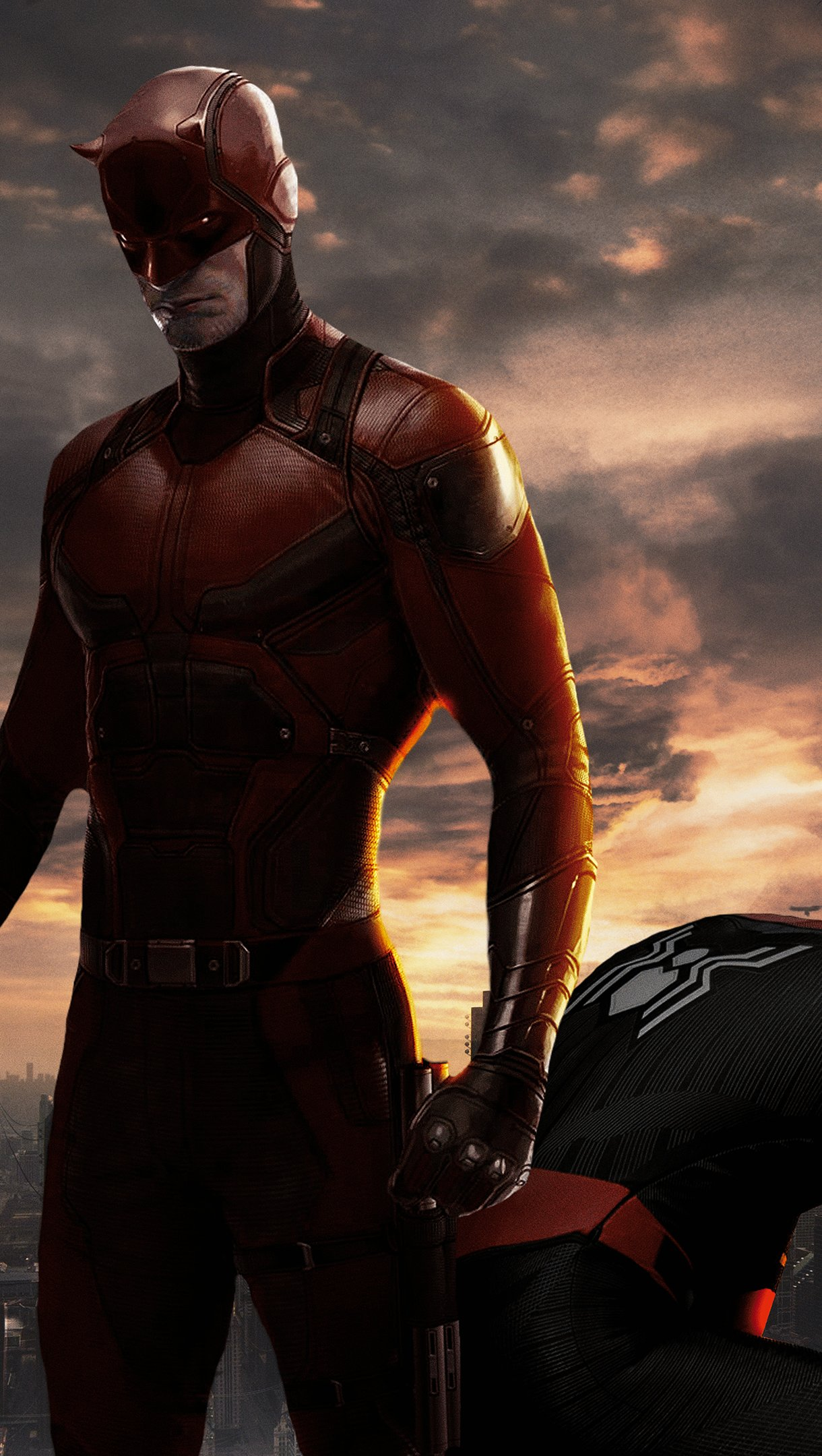 Fondos de pantalla Daredevil y el hombre araña Vertical