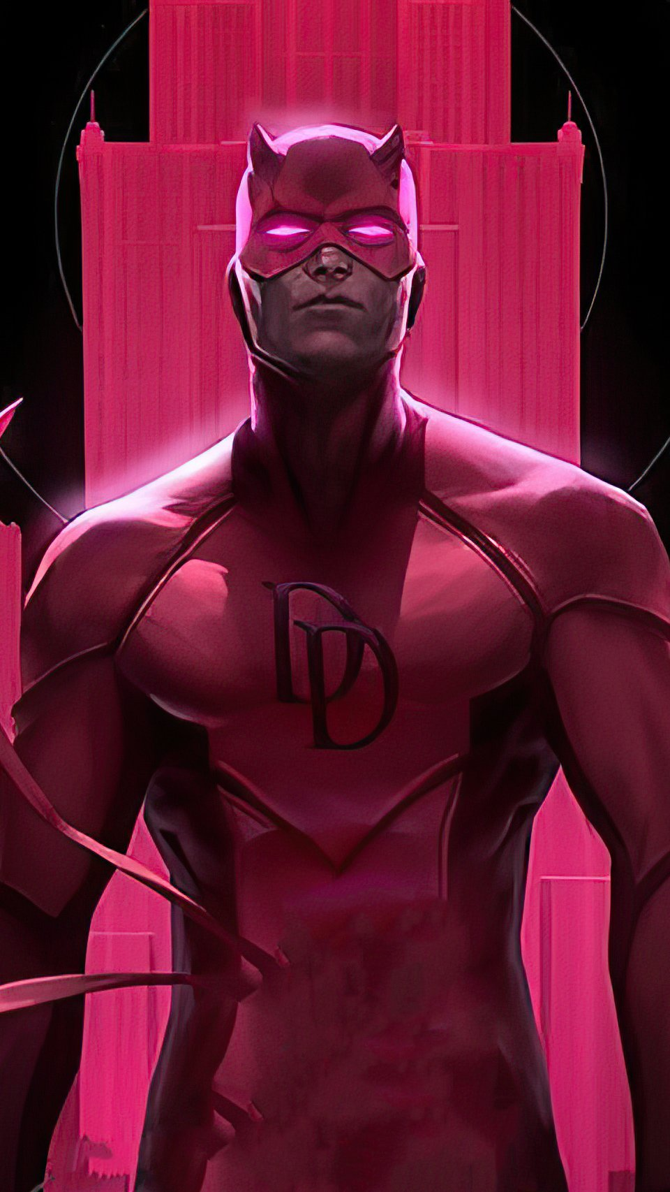 Fondos de pantalla Daredevill en rosa Vertical
